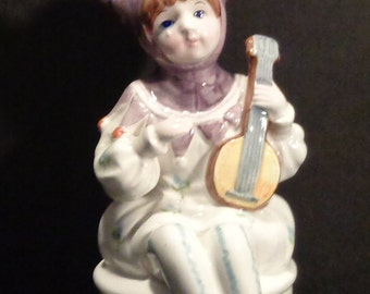 "Signed Schmid Yamada Original, Clown Jester Turning Working Music Box, Plays ""My Way"""