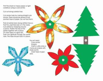 Christmas Lanterns Instant Printable Download Craft