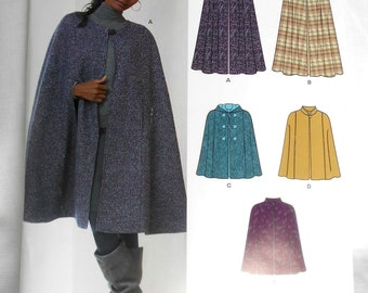 New Look 6073 Pattern Cape w/wo hood Size A (XS to XL)