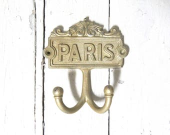 Paris Hooks, Key Hooks, Towel Hooks, Coat Hook, Gold Hooks, Jewelry Hooks, Shabby Cottage Chic, Rustic Decor, Organization, Paris Decor