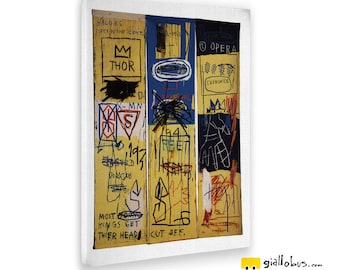 Modern paintings-Jean Michel Basquiat-Charles The First-Yellow BUS