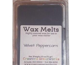 LAST CHANCE Velvet Peppercorn Scented Wax Melts, Wax Cubes, Wax Tart, Wickless Candle, Melting Wax, Masculine, Father's Day Gift, Wax Melt