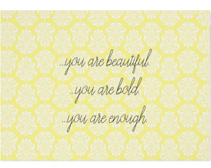 """Greeting Card """"You Are Beautiful."""""""