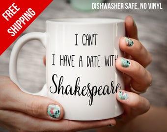 Book lover gift for lover of Shakespeare quotes mug for bookworm gift shakespeare gift literary gift for her christmas gift