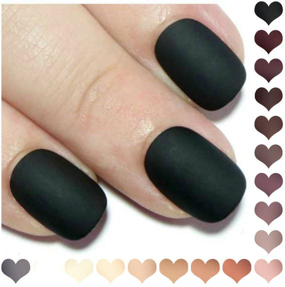 Press On Nails Short Matte Fake Nails Acrylic Nails Oval