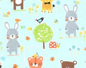 Half Yard - Flannel - Michael Miller Fabrics - Nature Babies on Flannel