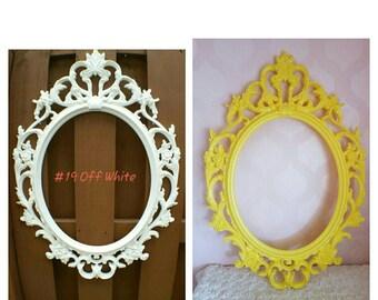 Ornate Oval Frame Nursery Wall Decor / Ornate Oval Wedding Photo Prop Frame