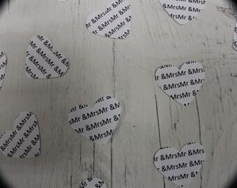 Wedding Confetti -Wedding - White Confetti - Confetti - Paper Confetti - Table Confetti - Mr and Mrs Confetti - Mr and Mrs