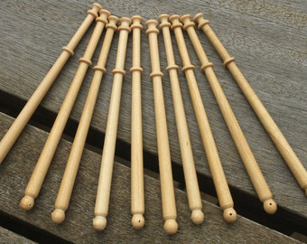Pack of Ten Midland Lace Bobbins