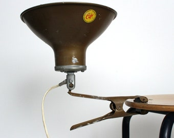 Vintage Photostudio industrial clamping lamp from Cifo, 1970s