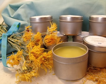 Healing Calendula Salve with Honey All-Natural Anti-Bacterial Anti-Fungal Soothing Burns Blisters Cuts Wounds Botanical With Beeswax