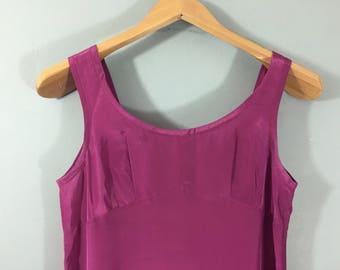 VINTAGE hand made violet slip petticoat underskirt UK 8/10 Night dress