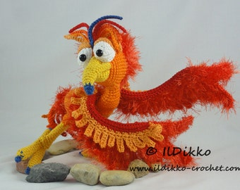 Amigurumi Crochet Pattern - Felix the Phoenix - English Version