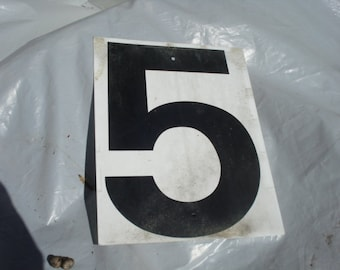 Vintage Double Side Sign Number 5 and 6 or 9