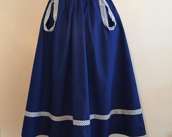 Vintage 50s Navy Cotton Skirt