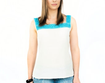 Top flower Otomi sleeveless