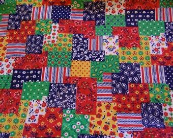 cotton calico quilt fabric