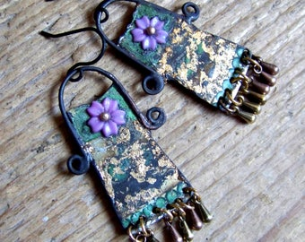 Recycled  tin earrings