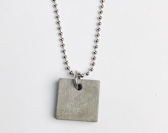 Concrete necklace- charcoal