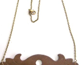 Antique Key Hole Necklace Pendant.Bronze . Door of happiness. Door of love- Nozzle for the lock. Art.8132. Gift, Anniversary, Birthday.