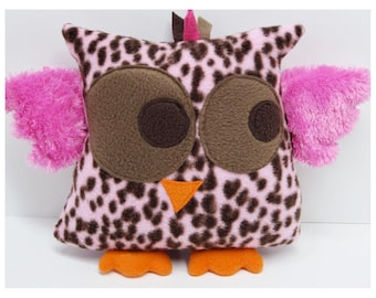 Cuddly Pink and Brown Owl