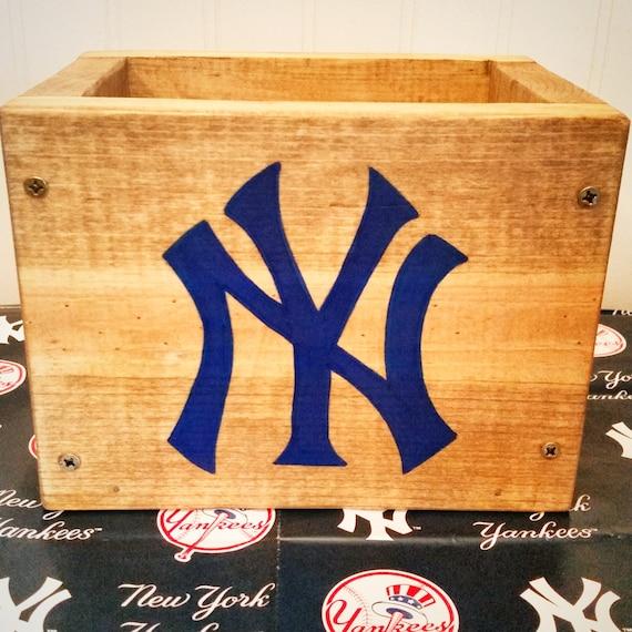 New York Yankees wooden box Baseball decor Birthday Party