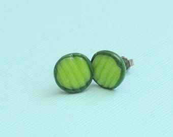 Pickle Slice Earrings, Dill Pickle, Pickle Gift, Pregnancy Gift, Goodluck Pickle