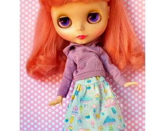 Doll Clothes Doll Skirt Clothes for Fashion Dolls Blythe Pullip Dolls Pastel Mushroom Skirt for Dolls Japanese Fabric Blythe Pullip Clothes