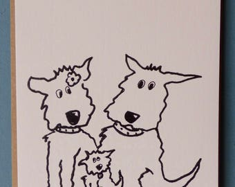 NEW ARRIVAL BABY- greetings Card-animal card- -dog -funny -baby