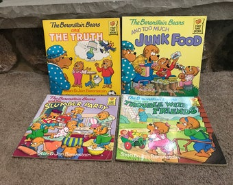 Vintage The Berenstain Bears 4 First Time Books Children's Paperbacks