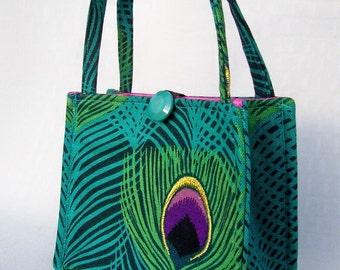 Peacock Mini Box Bag