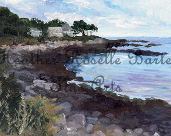 Print of Ryefield Cove: Peaks Island
