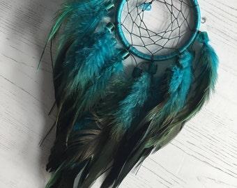 Malibu Blue Dreamcatcher - blue dream catcher, small dreamcatcher, small dream catcher, car dreamcatcher, car dream catcher, native american
