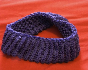 Purple Knit Headband, Viking Purple, Soft