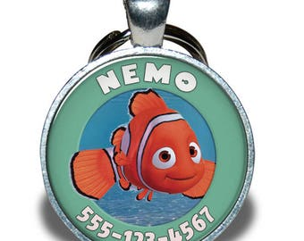 Pet ID Tag - Nemo *Inspired* - Dog tag, Cat Tag, Pet Tag