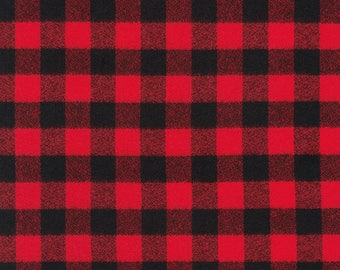 Red and Black Medium Check Buffalo Plaid Flannel Infinity Scarf - Plaid - Flannel - Oversized - Warm - Winter- Cozy - Unisex - Gray