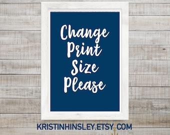 Change Print Size on Order
