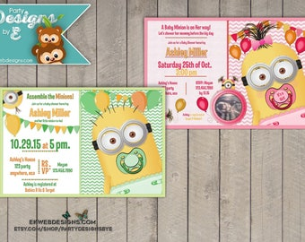 Custom Minion Baby Shower Invitation   Printable File   Itu0027s A Boy Or Itu0027s  A Girl