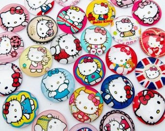 Set of 5 Hello kitty Cabochons