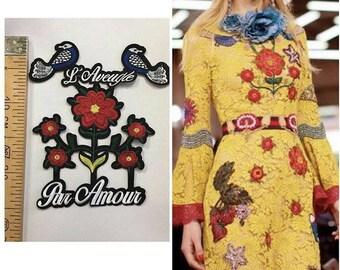 Gucci patch/patch Gucci/l'aveugle par amour patch/gucci flower patches set.
