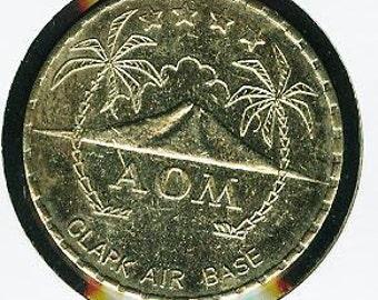 Vintage 1960s Clark AB Philippines Coconut Grove EM Club 1.00 Token 29mm.  Always Free Worldwide Registered Shipping