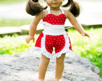 Kristine's Ruffled Shorts and Mariah's Retro Sun Top Doll Sizes PDF Pattern