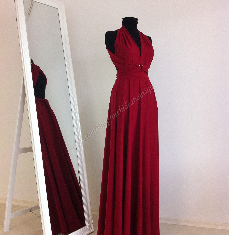 Maxi Dress Wedding Dress Wrap Convertible Dress Bridesmaid