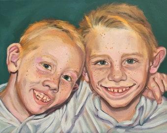 14x11 double oil portrait