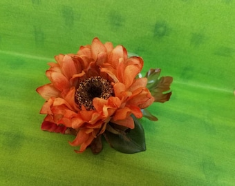 Fall flower hair clip