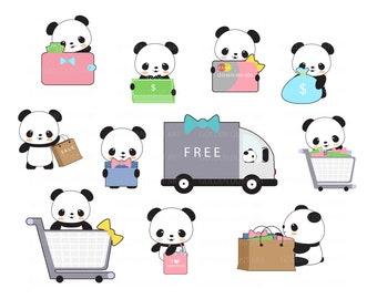 cute panda clipart etsy rh etsy com cute panda clipart free cute panda clipart images