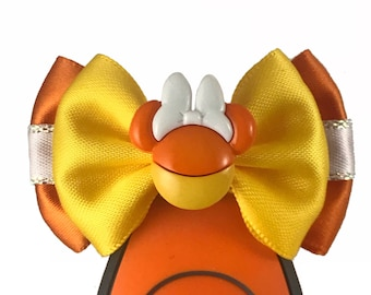 """Your choice Candy Corn Mickey or Minnie Magic Band  Bow or Apple Watch Bow, 2"""" Mini Hair Bow, Planner Bow - Halloween Collection"""