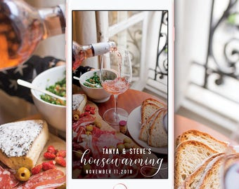 Housewarming Snapchat Geofilter, New Home Snapchat Filter, Dinner Party House warming Filter, Custom House Party New Home Snapchat Geofilter