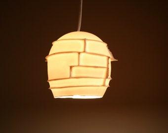 Ceiling Light: Spikes pendant, translucent porcelain - LED bulb