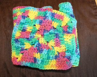 Set of Four Crocheted Dish Cloths